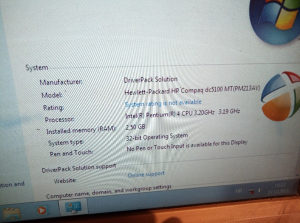 Centralna HP 3.2ghz 2.5gb rama