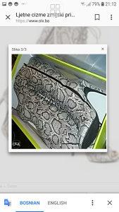 Cizme zmijski print