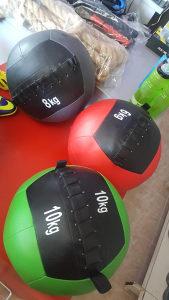 Wall ball Wallball Medicinke lopte set 6kg 8kg 10kg