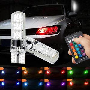 2X POZICIJE T10 LED RGB I DALJINSKI SVE BOJE DALJINSKIM
