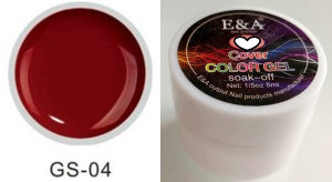 E&A Soak Off UV gel za nokte 5ml bordo 04