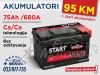 Start EXTRA 75Ah/680A - 95 KM