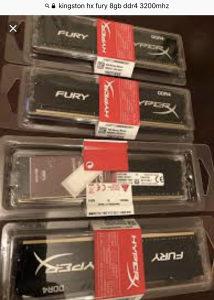 Kingston Hx Fury 8GB DDR4 3200MHz