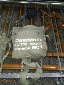Gas maska komplet mc1