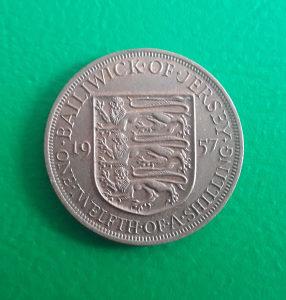 Jersey 1/12 shilling 1957.