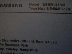 SAMSUNG UE49MU6170U  (dijelovi)