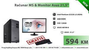 """Računar MS & Monitor Asus 21,5"""""""
