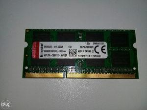 KINGOSTON RAM MEMORIJA / 8GB DDR3 1600MHz / za laptop