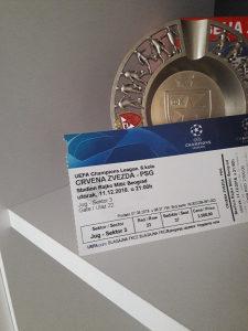 Karta 2x Crvena Zvezda-PSG