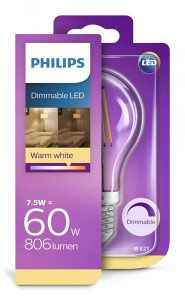 PHILIPS Dimmable LED sijalica Tesla 7,50=60 W
