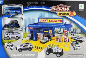 Garaža parking set policija sa autićima NOVO