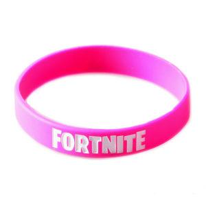 Narukvica gumena Fortnite roza pink
