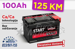 Akumulator 100Ah - 125 KM sa dostavom!