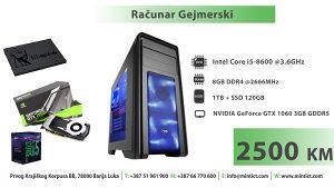 Gejmerski računar i5-8600 @3,6GHz