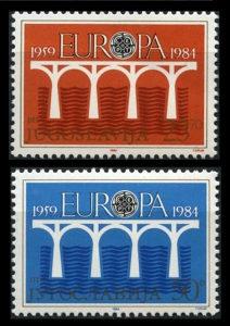 JUGOSLAVIJA 1984 - Poštanske marke - 01450 - ČISTE