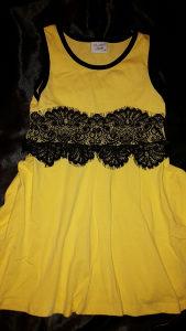 Zuta haljina za djevojcice 3-5 god