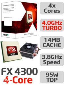 AMD FX - 4300( 4 jezgra 3.8 MHZ)