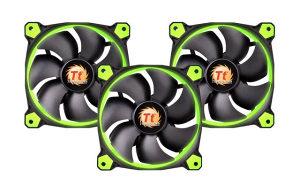 Ventilatori ThermalTake Riing 12 Green (3 Fan Pack)