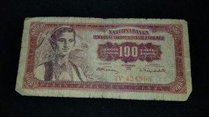 100 Dinara - 1955.god. - F. N. R. Jugoslavija