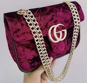 Gucci torba plisana