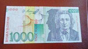 novcanica slovenija