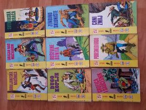 Stripovi-loto 9 kom zlatna serija