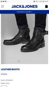 Muske duboke cipele JACK&JONES broj 43