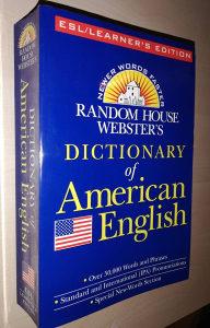 RANDOM HOUSE WEBSTER'S AMERICAN ENGLESKI RJECNIK