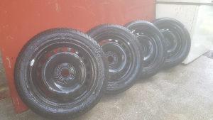 Čelične felge 16-ke WV, Audi sa zimskim gumama