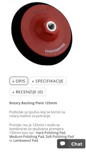 Menzerna rotary nosac spuzve