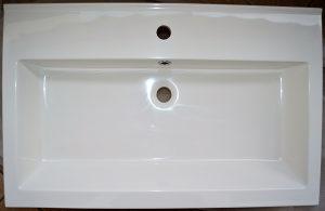 "Umivaonik – lavabo ""AQUAESTIL"", 80x51 cm, mermer"