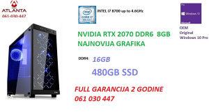 i7 8700 nvidia RTX 2070 DDR6 16GB 480 SSD Ultimate PC