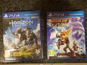 Horizon zero dawn i Ratchet and clank ps4