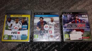 Fifa 10,Fifa 13, PES 2011 (PS3 igra)
