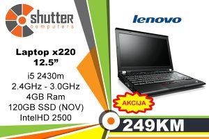 AKCIJA!!! Lenovo X220 i5 2.Gen GRATIS TORBA SSD