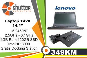 Laptop Lenovo T420 i5 2.GeN SSD 120GB