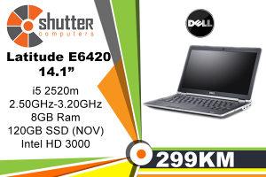 """Dell Latitude E6420 14.1"""" i5 2.Gen SSD 120GB"""