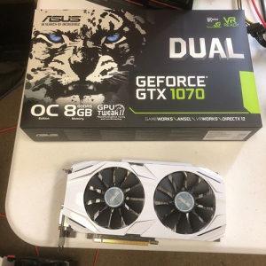 ASUS DUAL-GTX1070-O8G OC, GeForce GTX 1070, 8GB