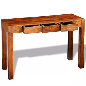 Konzolni Stol/Kabinet s 3 Ladice Sheesham Drvo 80 cm