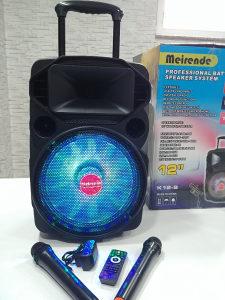 Karaoke bluetooth zvucnik sa 2 mikrofona 300w