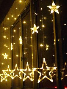 Praznicne dekoracije zvijezde - lampice / novogodisnji