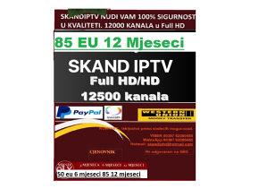 IPTV U FULL HD/HD 12500 kanala Bez trzanja i Prekida