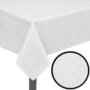 5 Stolnjaka Bijela boja 250 x 130 cm