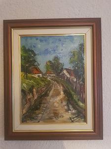 """Umjetnicka slika Emin Skomorac """"Seoski put"""" 2007"""