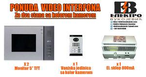 VIDEO INTERFON ZA DVA STANA