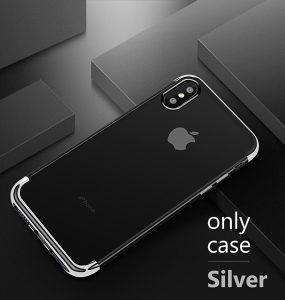 Maske za Iphone X Ultra Slim Bumper Siva Dizajn 2018